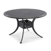 La Jolla Cast Aluminum Outdoor 48'' Round Dining Table in Gray Powder-Coated Finish, 48''Diameter x 28-3/4'' H