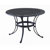 Biscayne 42'' Diameter Outdoor Dining Table, 29'' H, Black Finish