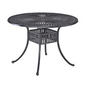 Largo Collection 42'' Round Outdoor Dining Table in Charcoal, 42'' Diameter x 42'' D x 28-3/4'' H