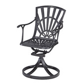 Largo Collection 23-1/4'' Swivel Chair in Charcoal, 23-1/4'' W x 24'' D x 36'' H