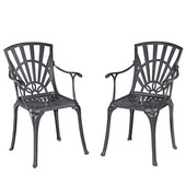 Largo Collection 23-1/4'' Dining Chair, Set of 2 in Charcoal, 23-1/4'' W x 24'' D x 36'' H