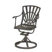 Largo UV-Resistant Cast Aluminum Indoor/Outdoor Patio Swivel Chair in Taupe