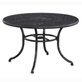 Athens 48'' Round Dining Table in Antique Charcoal, 48'' Diameter x 29'' H