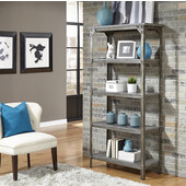 Urban Style Collection 38'' 5-Tier Storage Shelf in Aged Metal, 38'' W x 16'' D x 75-1/2'' H