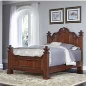 Santiago Queen Bed, Cognac Finish, 65''W x 95''D x 64-3/4''H