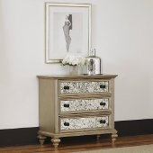 Visions Drawer Chest in Silver/Gold Champagne, 39'' W x 19'' D x 36-1/2'' H