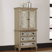 Visions Door Chest in Silver/Gold Champagne, 40'' W x 19'' D x 76'' H
