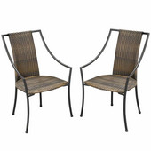 Laguna Dining Chair, Pair, Black & Taupe, 23-1/4''W x  22-1/4''D x  36''H