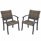 Newport Arm Chairs, Pair, Black & Brown, 24-1/2''W x  24-1/4''D x  36''H
