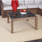 Morocco Collection 35-3/4'' Coffee Table in Slate/Wire Brushed, 35-3/4'' W x 35-1/2'' D x 18-3/4'' H