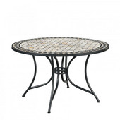 51'' Laguna Marble Top Outdoor Bistro Table
