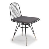 Du Jour Outdoor / Indoor Pair Of Wire Chairs in Black Powder-Coated Finish, 21-1/2'' W x 19'' D x 32-3/4'' H
