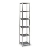 Bold Stainless Steel Collection 6-Tier Bath Shelf in Brushed Stainless Steel, 13'' W x 11'' D x 60'' H