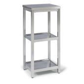 Bold Stainless Steel Collection 3-Tier Bath Shelf in Brushed Stainless Steel, 13'' W x 11'' D x 28'' H