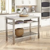 48'' Wide Stainless Steel Island in Brushed Satin, 48'' W x 24'' D x 36'' H