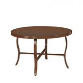 Key West Round Outdoor 48'' Aluminum Dining Table, Chocolate Finish