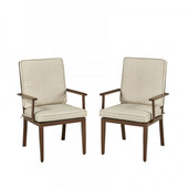 Key West Pair of Arm Chairs, Chocolate Finish