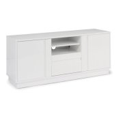 Linear Collection Home Entertainment Credenza in White, 56'' W x 18'' D x 24'' H