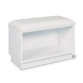 Linear Collection Storage Bench in White, 28'' W x 15'' D x 19'' H