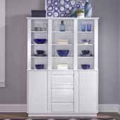 Linear Buffet with Hutch, White, 54-1/2''W x 18''D x 76''H