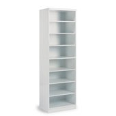 Linear Collection Storage Open Unit in White, 25'' W x 20'' D x 82-1/2'' H