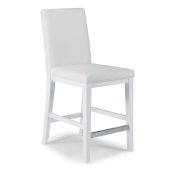 Linear Collection Counter Stool in White, 18'' W x 21-3/4'' D x 40-1/2'' H