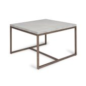 Geometric Collection Coffee Table in Chalky White, 32'' W x 32'' D x 20'' H