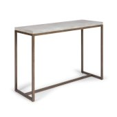 Geometric Collection Console Table in Chalky White, 44'' W x 16'' D x 30'' H