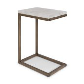 Geometric Collection Pull-Up Table in Chalky White, 18'' W x 12'' D x 24'' H