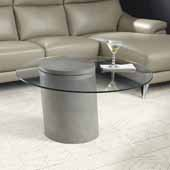 Illusion Glass Top Coffee Table, 90''W x 90''D x 49''H