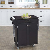 Mix & Match Cuisine Cart, Black Base, Black Granite Top, 32-1/2'' W x 18-3/4'' D x 36'' H