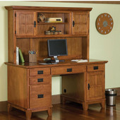 - Arts & Crafts Desk/Hutch, Cottage Oak