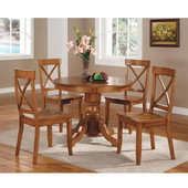 5-pc. Set, Round Pedestal Dining Table & 4 Chairs