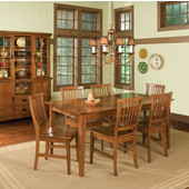 Arts & Crafts Dining Table & 6 Chairs