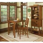 Arts & Crafts Bistro Table & 2 Stools