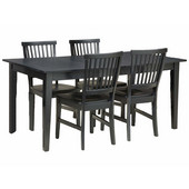 Arts & Crafts Dining Table & 4 Chairs