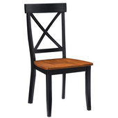 - X-Back Side Chairs - Pair, 19 1/4''�W x�22 1/2'' D�x�38 1/2'' H, Ebony