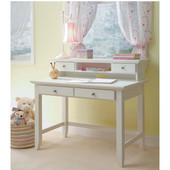 Naples�Student�Desk�&�Hutch�Combo, 42'' W�x�24'' D�x�38 3/4'' H, White