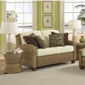 Cabana Banana Love Seat, Honey Oak, 53-3/4''W x 36''D x 31-3/4''H