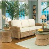 Cabana Banana 3 Section Sofa, Honey Oak, 85''W x 32''D x 36''H