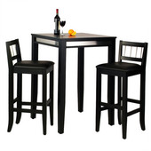 Manhattan Pub Table & Stools, Black
