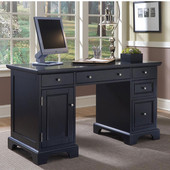 Bedford Pedestal Desk, Black Finish