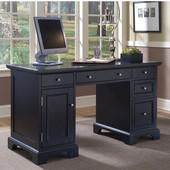 Bedford Pedestal Desk, Black Finish