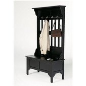 Hall Tree & Storage Bench, Black