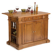 Kitchen Island, Cottage Oak Finish, 48'' W x 25'' D x 36'' H