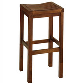 - 29'' Bar Stool with Square Seat, Oak