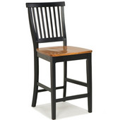 Bar Stool, 17 3/4'' W x 22 1/4'' D x 40 1/2'' H, Ebony Finish