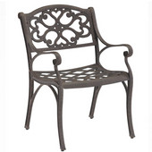 - Outdoor Arm Chairs - Pair, 23'' W x 21 1/2'' D x 32 1/2'' H, Rust Brown