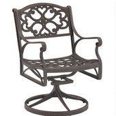 - Outdoor Swivel Arm Chair, 24 1/2'' W x 22'' D x 33 1/2'' H, Rust Brown