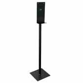 Hand Sanitizer Dispenser Stand in Black Finish, 13''W x 13''D x 55''H